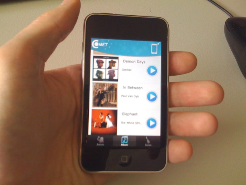 New CoMET iPod or iPhone App to connect with the Touch Terminal