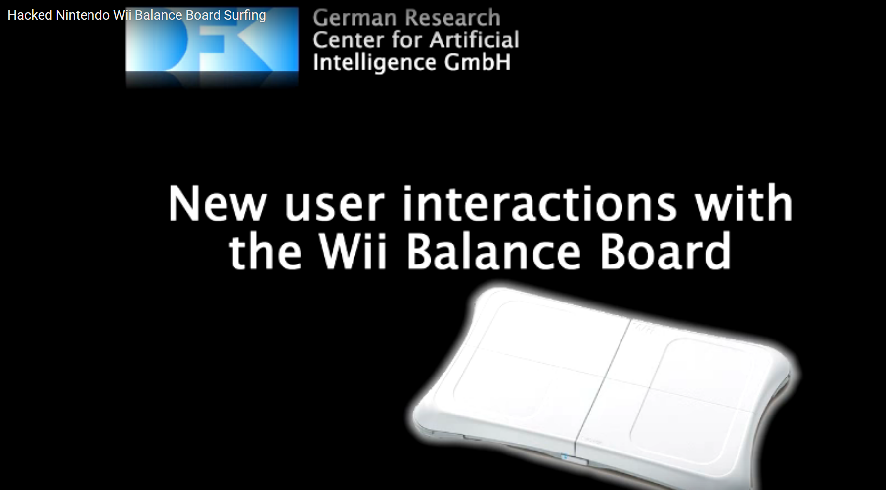 Interaction with the Wii Balance Board Part I