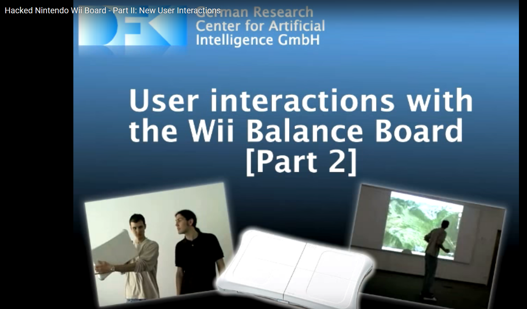 Interaction with the Wii Balance Board Part II
